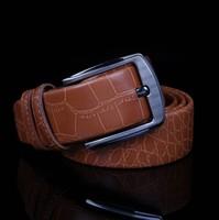 Fashion Man Belt Mens Strap Genuine Leather Belt  Man Pants Alloy Pin Buckle Belts Free Shipping