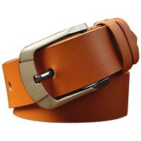 Men's Genuine Leather Belts Brand designer 3 colors Fashion Business belts Pin buckle Cintos Cinturon M147 Free shipping