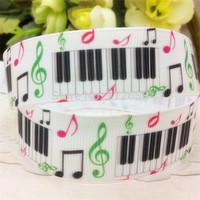 free shipping 7/8'' 22mm piano printed grosgrain ribbon clothing accessory Bow Material Gift Wrap ribbon10 yards