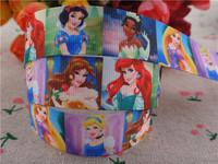 2014 new arrival 7/8'' (22mm) princess printed grosgrain ribbons cartoon character ribbon hairbows wholesale 50 yards A2812