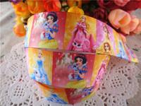 2014 new arrival 1'' 25mm princess printed grosgrain ribbon cartoon ribbon cloth tape 50 yards WQ14032423