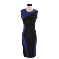 Plus Size Short Prom Vintage Geometry Design Sleeveless O-Neck Stretchy Bodycom Party Dresses Elegant Blue Evening Dresses