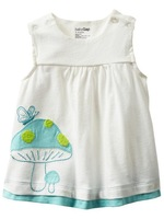 NEW Baby Girls' Summer Sleeveless Straight Dresses MUSHROOMS 6months~3yrs (1685)