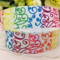 New 7/8'' 22mm colorful pattern printed grosgrain ribbon cartoon ribbon EF166 diy Bow Gift Wrap ribbon10 yards free shipping