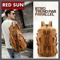 RED SUN Men canvas outdoor shoulder bag large capacity travel backpack hiking handle fashion me's totes bag , sport bag NB2044