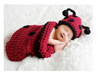 Free shipping The beetles style  baby hat handmade crochet photography props newborn baby cap