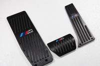 Free Shipping Aluminum Foot Pedal Pad Brake Accelerator Cover for BMW X1 E46 E90 E92 E93 E87 1 & 3 Series good quality