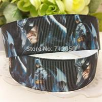 free shipping 7/8'' 22mm batman series printed grosgrain ribbon clothing accessory Bow Material Gift Wrap ribbon10 yards