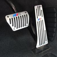 Free Shipping Hot Silver Automatic Transmisson Car Pedal Brake Pad Covers For BMW E87 X1 X5 X6 X3 e36 e30 f10 e46