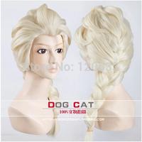 Frozen elsa wig princess anna 100% korean heat resistant synthetic Animation wig  human Kanekalon Fiber Hair wigs Free Shipping
