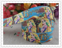 2014 new arrival 1'' (25mm) princess Rapunzel printed grosgrain ribbon hairbows children accessories wholesale 50 yards AN2805