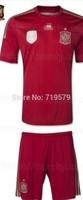 Kid Spain Jerseys 2014 Brazil World Cup spain Boy Home Red Away Black jersey A INIESTA DAVID VILLA Child Soccer Football Uniform