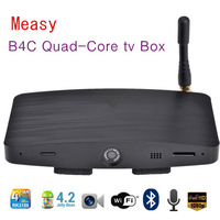 Quad-Core tv Box Measy B4C RK3188 Android 4.2 1GB/4GB Built-in Bluetooth Microphone HD Camera WiFi set top box free shipping