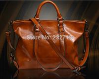Eight colors!!Women's bags fashion wax genuine leather women's handbag cowhide motorcycle bag shoulder cross-body large bag T015