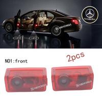 2Pcs 3D Car LED Door courtesy Shadow Projector logo Light For Mercedes-benz E-class A-Class B-Class free shipping
