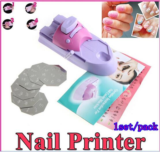 Big Discount 1pcs DIY nail art tip printer machine without nail polish Pattern Printing Manicure Machine Stamping Nail Tool Set(China (Mainland))