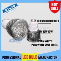 X10pcs High power CREE Led Lamp 9W 12W 15W Dimmable GU10 220V Led spot Light Spotlight led bulb LED lights downlight lighting
