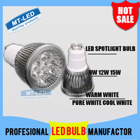 X10pcs High power CREE Led Lamp 9W 12W 15W Dimmable GU10 220V Led spot Light Spotlight led bulb LED lights downlight lighting