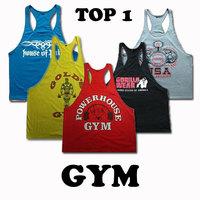 New 2014 Bodybuilding Cotton Vest Golds Gym Tank 1LOT/2PIECE