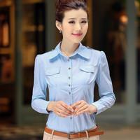 Blusas 2014 Women Fashion Women Clothing Tops Women Body Feminino Chemise Femme Imported Clothing For Office Lady Work Wears