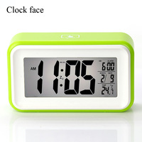 Newest  Dual purpose LED Alarm Clock Table Clock Snooze Night Light Multifunction Plastic Hot Sale Good Quality Free Shipping