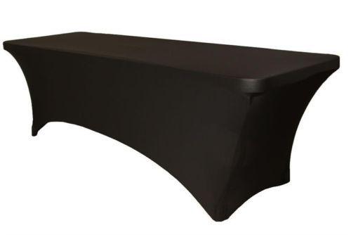 1pcs rectangular spandex 6ft stretch table cloth cover - black 6' wedding(China (Mainland))
