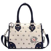 New 2014 Women Handbag Fashion Baguette Desigual Bag Preppy Navy Style Hobo Women Messenger Bags Ladies Totes Hot Sale FA6403