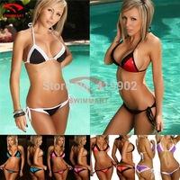 New 2014 Bikini bathing swimsuits Lace women bra set Pink Black Purple Blue Red Orange &Rose red Sexy Women