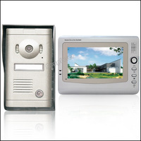 7 Inch TFT LCD Recordable Video Door Phone with Alloy Weatherproof Cover Camera HA2DB08