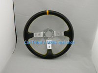 2014 new hot MOMO steering wheel with carbon fiber pattern car modification / PVC Silver Carbon Rally Racing Wheel