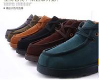 winter shoes men size 39-44 free shipping  new 2014 men winter boots,flat boots,snow boots for men,mocasim feminino