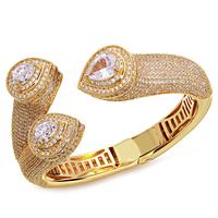 top designer new models 2014 trendy design luxury bangle bracelet 18k gold plated banquet dresses all match