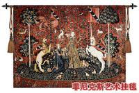 Beautiful belgium wall tapestry fashion 100% cotton  gobelin cloth unicorn series 140*104CM