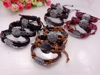 Top fasion 12 zodiac signs personalized bracelet lovers bracelets & banglesMin.Order ($6.9 mixed free shipping)