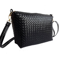 2014 knitted embossed bag brief  cross-body women's handbag  shoulder bags free shipping