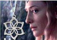 NEW Fashion Hobbit necklace unexpected journey Official surrounding Galadriel Flower Necklace Film surrounding accessories