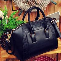 2014 New women handbag fashion brief crocodile pattern shoulder bags women messenger bags women PU leather handbags bags