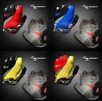 Protect outdoor wear-resistant shock absorption slip-resistant mountain bike ride semi-finger short gloves