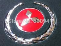 1 PAIR Mitsubishi 3D Car Motor Auto Metal Fender Side Pillar Chrome Sticker Emblems Badges