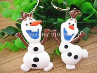 4pcs/lot Frozen Key Chains,Soft Rubber Cartoon Olaf Elsa Anna Keychain/pendant