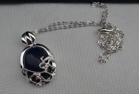 NEW Fashion The Vampire Diaries katherine anti- sun silver natural stone pendant necklace Film surrounding accessories