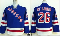 NEW NHL jerseys New York Rangers #26 Martin St.Louis Blue Home Stitched Youth hockey Jersey