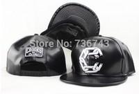 1pc/lot2014 Hot Sale Unisex Faux Leather Crooks Castles BBOY Snapback  Hip Hop Cap Baseball Skateboard Hat YS9070-4