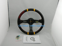 Real shot Specials selling car modification MOMO steering wheel with carbon fiber pattern / PVC Carbon Racing Wheel