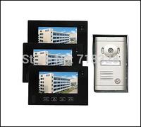 "7"" LCD 3 Apartments Flats Touch Screen Panel Video Doorbell Door phone Intercom HA-2DB03"