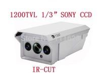 "New 1/3"" SONY CCD HD 1200TVL 2 Array LED IR 30M Weatherproof Camera Outdoor IR CCTV Security Camera 4/6/8/12/16mm Lens"