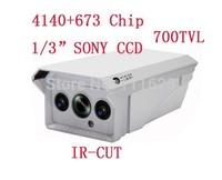 "4140+673 Chip 1/3"" SONY CCD HD 700TVL 2 Array LED IR 30M Weatherproof Camera Outdoor IR CCTV Security Camera 4/6/8/12/16mm Lens"