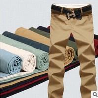 2014 new Man's 9 color Fashion High quality Casual Pants Men Outdoors Leisure design business Trousers man khaki/black big