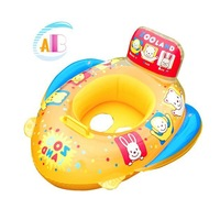 New 2014 Summer Lovely baby swimming ring Newfangled inflatable boat PVC inflatable circle 1pieces/lot hot selling