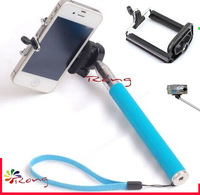 Mobile Phone Holders  Stands Extendable Telescopic Grip Handheld Pole Monopod blue For Digital Camera Phones